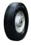 Колесо промышленное, литая черная резина, стальной прессованный цельный обод, симметричная ступица, шарикоподшипник (SR1900-1 (S))