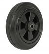 Колесные опоры промышленные, шинка - черная литая резина, обод -пластиковый, подшипник скольжения, для пластиковых баков (C80 KU (82))