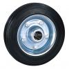 Колесные опоры промышленные, шинка - черная литая резина, обод - штампованная листовая оцинкованая сталь, роликоподшипник (C63 (11) Колесо без комплекта)