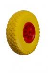 Колесо пенополиуретановое, пластиковый обод, симметричная ступица, подшипник скольжения FFP1105-2 (S) (3.00-4)