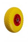 Колесо пенополиуретановое, пластиковый обод, симметричная ступица, шарикоподшипник FFP1105 (S) (3.00-4))